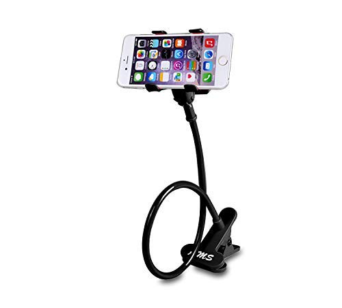 AMS Universal Cell Phone Holder, Clip Holder, Lazy Bracket Flexible Long Arms for All Mobile, Fit On Desktop Bed Mobile Stand for Bedroom, Office, Kitchen from AMS