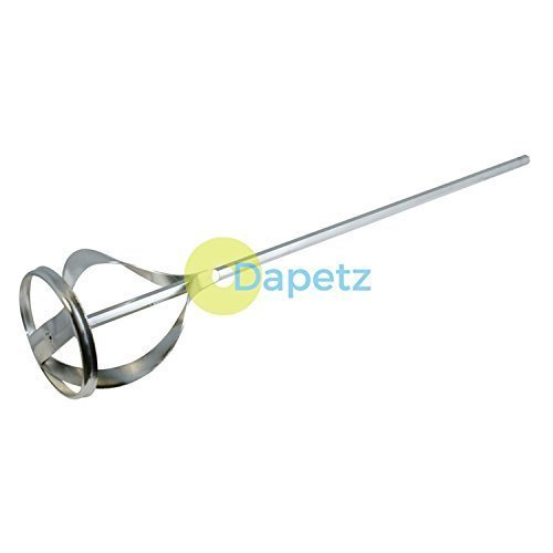 Daptez ® Mixing Paddle Zinc Plated 60mm X 430mm - Plaster Power Mixer Drill Dapetz