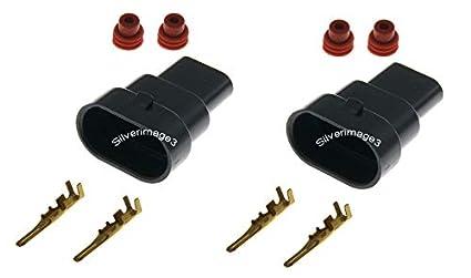 Amazon 2X 9006 HB4 9005 H10 Male Connector HID Xenon Plug