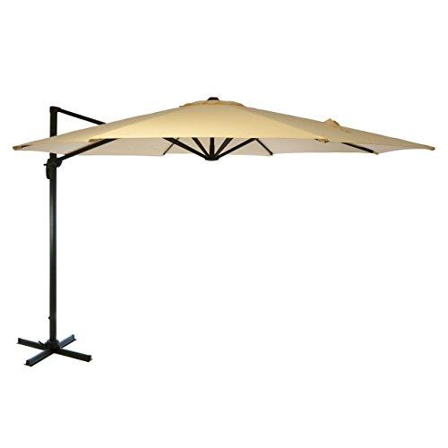 Luxus-Ampelschirm-Sonnenschirm--35m-Hhe-260m-Polyesterstoff-200gm-Gewicht-ca-23kg-Stamm-Rohrdurchmesser-80x50mm-Kurbel-Fukreuz-champagner-sand