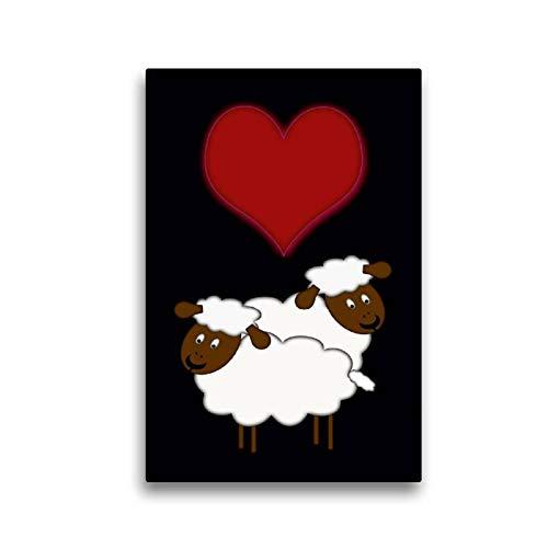 CALVENDO Spass Toile en Textile de qualité supérieure Motif Moutons 30 x 45 cm