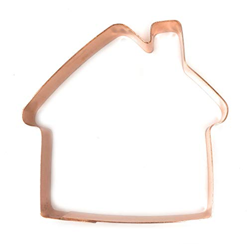 The Fussy Pup Simple House Copper Cookie Cutter