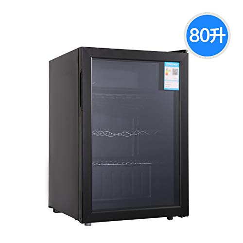 WYQWANLJX Single Door Small Refrigerator Ice Bar Refrigerator Transparent Glass Display Cabinet Thermostat Home