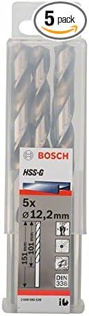 Bosch 2608585539 Metal Drill Bit Hss-G 12 2mmx3.98inx5.94In 5 Pcs