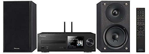 Pioneer X-HM76B 40W Network Wireless Mini Music System with CD Player, Bluetooth, USB Connection, and Network Audio