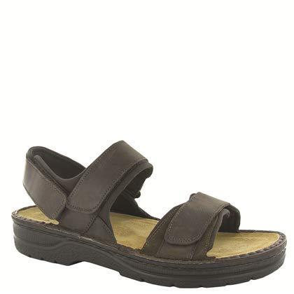 NAOT Footwear Men's Arthur Sandal Crazy Horse Lthr/Hash Suede 10 M US