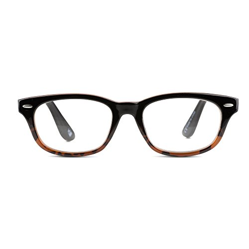 EyeSquared Deluxe Reading Glasses - For Men And Women, Comfortable Stylish Simple Readers With Spring Hinges