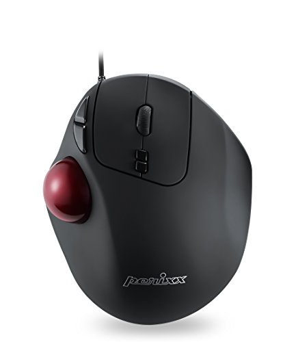 Perixx PERIMICE-517 Wired Ergonomic Trackball Mouse - 7 Button Design - DPI - Mens Track Agile