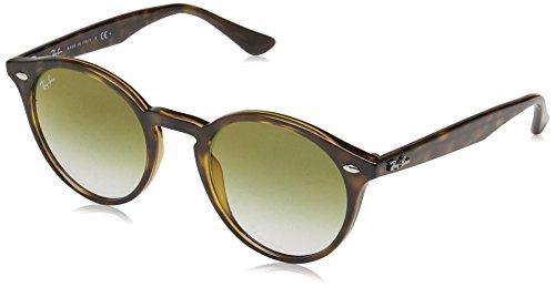 Ray-Ban RB2180 Round Sunglasses, Tortoise/Green Gradient Mirror, 49 mm