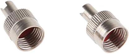 Homyl 金属溝付きヘッドバルブステムキャップ&コアリムーバーツールオートバイ/車