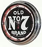 JACK DANIELS OLD No 7 WHISKEY 15'' NEON WALL CLOCK SIGN ORANGE