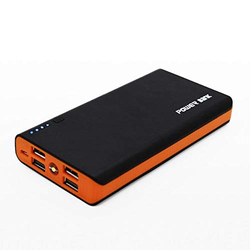 BianchiPatricia DIY Power Bank Case Kits with LED Light 4USB Powered by 6X 18650 Batteries