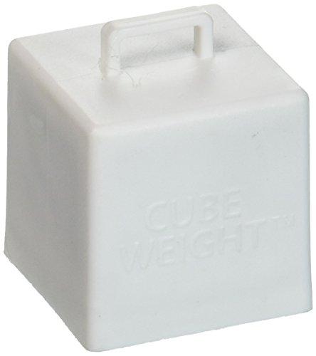 Cube Weight Balloon Weight, 65 Gram, White, 10