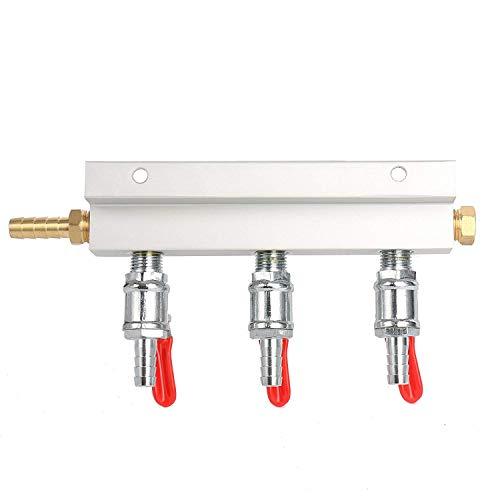 YaeBrew Gas Manifold, Beer Gas Distributor, Air Distributor CO2 Manifold - Splitter 5/16