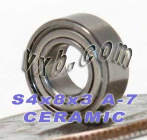 VXB ABEC-7 Bearing 4x8x3 Ceramic Stainless Steel Shielded...