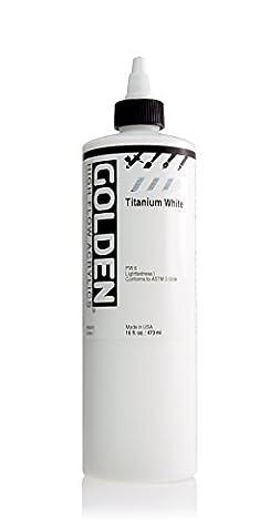 Golden High Flow Acrylic Paint, 16 Ounce, Titanium White (Acrylic Golden Paint)