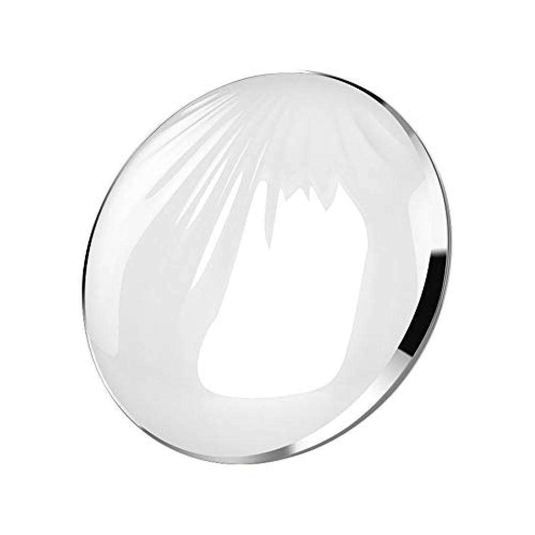 詩知らせるどこでも流行の クリエイティブled化粧鏡シェルポータブル折りたたみ式フィルライトusbモバイル充電宝美容鏡化粧台ミラーピンクシルバーコールドライトウォームライトミックスライト (色 : Silver)