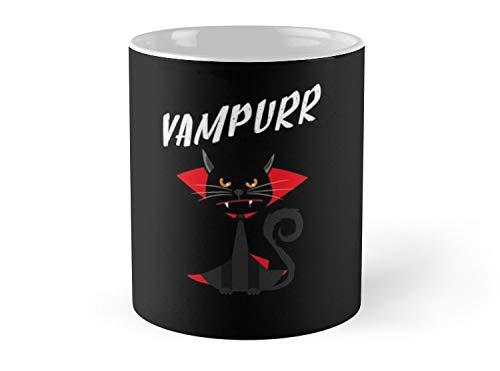Hued Mia Mug Vampurr Vampire Meowcula Black Cat polder1 Halloween Costume Black Cat Meow Hocus Pocus Kitten, Kitty Meowy Paw - 11oz Mug ()