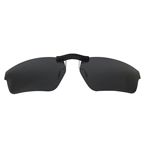 Custom Polarized Clip On Sunglasses for Oakley Crosslink Sweep OX8031 55x18(No Frame) Black by oGeee