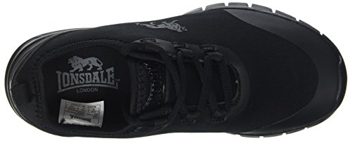 Lonsdale Women's Zambia Multisport Outdoor Shoes Black (Black/Black) drr4B