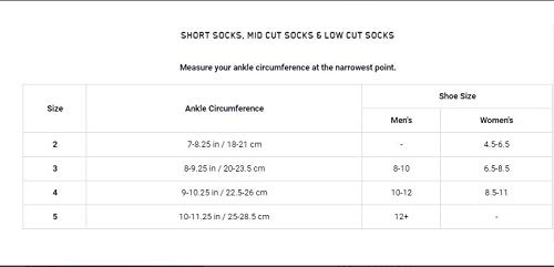 Men/'s Compression Crew Cut Socks CEP Ultralight Short Socks for Performance