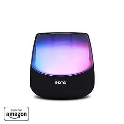 """Made for Amazon"" All-NEW iHome iAV5v2 Color Changing Bluetooth Rechargeable Speaker for Amazon Echo Input and Echo Dot (2nd Generation)"