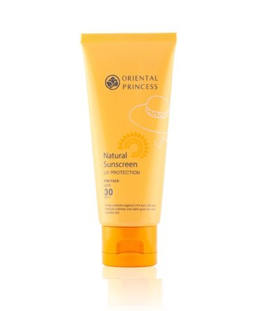 (Oriental Princess Natural Sunscreen for Face Alcohol-Free UV Protection SPF 30 PA++ (Pack of)