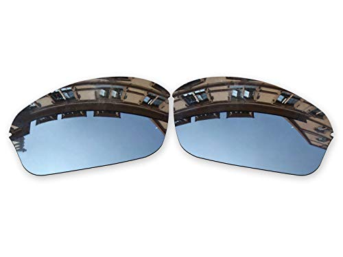 (Vonxyz Lenses Replacement for Oakley Half Wire 2.0 Sunglass - Chrome MirrorCoat Polarized)