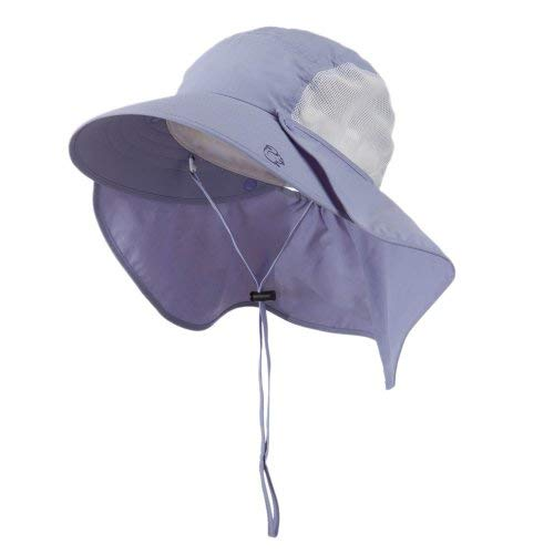 UV 50+ Talson Large Bill Hat with Detachable Flap - Purple OSFM
