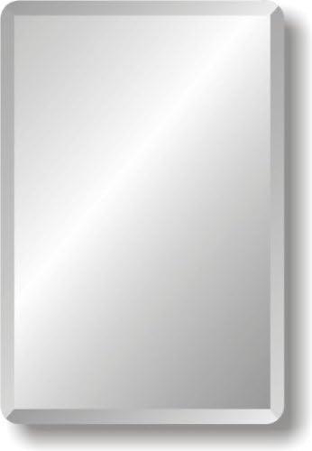 Amazon Com Spancraft Glass 18 X 40 Rectangle Frameless Wall Mirror Home Kitchen