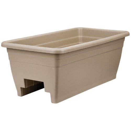 (Akro Mils (SPX24DB0E32) Deck Box Planter, Mocha, 12-Inch)