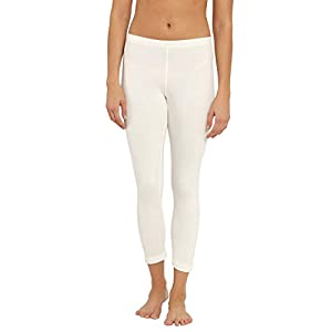 Jockey Women's Cotton Thermal Leggings (2520-0105-OFFWHITE-Small)