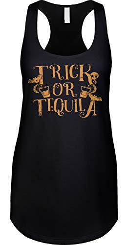 Blittzen Womens Tank Trick Tequila - Halloween Drinking,
