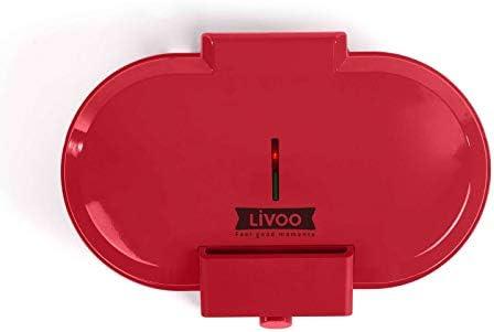 Waffeleisen Doppelt für Herzwaffeln Waffelautomat (Herzform, Antihaftbeschichtung, Starke 1200 Watt, rot)