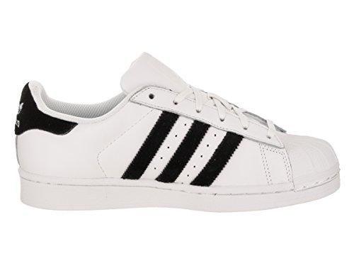 Eu 40 J nbsp;scarpe Superstar nbsp;– Ragazzo black Velvet 7 white Adidas Foundation Scarpe Ginnastica Da YCnOxUqP
