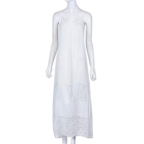 Fanyunhan Sexy Women Summer Casual Lace Long Dress Sleeveless Sling Maxi Dress Evening Party Beach Dress White by Fanyunhan Dress (Image #3)