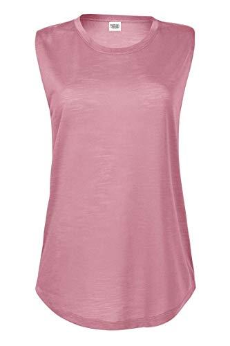 Sleeveless T-shirt Ringspun (Casual Garb Women's Slub Sleeveless Crew Neck T Shirt Sleeveless Shirts for Women Petal Medium)