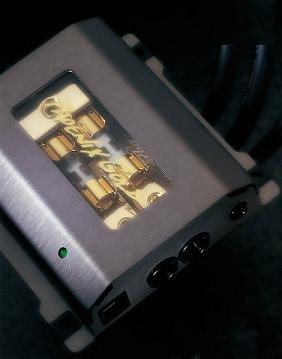 Phoenix Gold ZBB12TI, Fuse Distribution Block with Diagnostics Plug, Titanium Series, 1 to 2, for AGU Fuses, input: 1 cable - 1 Gauge (50mm²), output: 2 cables - 8 Gauge (10mm²), 4 Gauge (25mm²), color: titanium