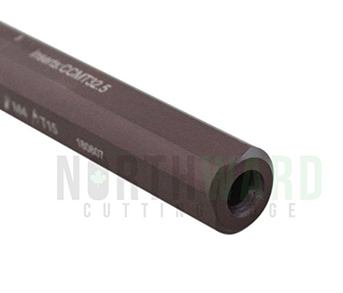 Accusize Industrial Tools 1 in by 10 in Right Hand Sclcr Coolant Through Indexable Boring Bar with Carbide Tin Coated Ccmt 32.51 Insert 2800-0039