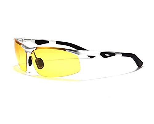 Polarized Drivers Jewelry (TELAM Polarized Night Vision Glasses, Night Vision Glasses Dedicated Car Driver, Hd Anti-glare Night Vision Goggles, Aviation Aluminum Magnesium Materials)