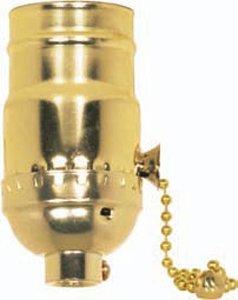 Satco Aluminum On Off Pull Chain Socket - 801099