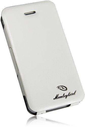 Premium Für Iphone 4 4S NEW Slim Design Book Flip Style Smart PU Leder Handytasche mit Standfunktion Book Wallet Tasche Case Hülle in Weiß