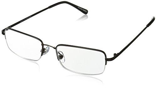 Foster Grant Men's Hf 22 1017550-125.COM Rectangular Reading Glasses, Gunmetal, 1.25 from Foster Grant