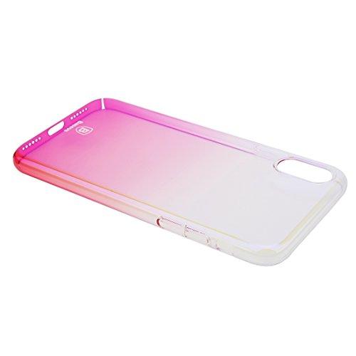Protege tu iPhone, Baseus para iPhone X Hard PC Color degradado funda protectora Para el teléfono celular de Iphone. ( Talla : Ipxg0376f )