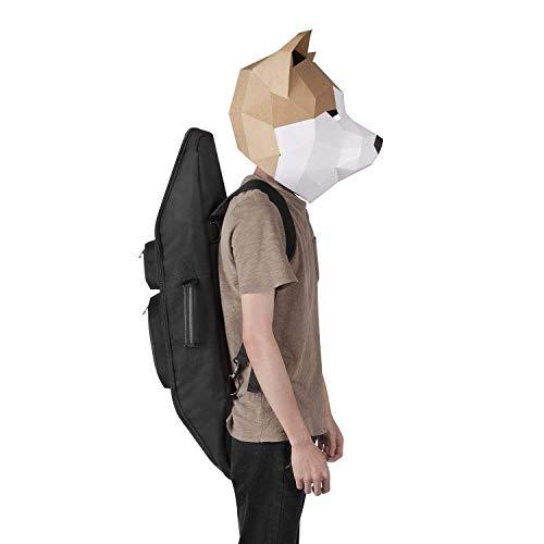 (Maxfind Waterproof Skateboard Oxford Fabric PVC Backpack Cruiser Carry Bag Handy Handbag for 27inch Skateboard)