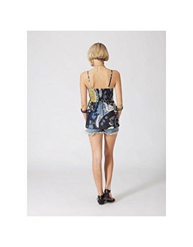 Modeincoton - Top strapless algodón fino smocke bajo el pecho y la espalda escote en V Modeincoton TL134 Multicolor