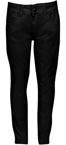 Premium Skinny Stretchable School Uniform Pants for Girls 12 Black