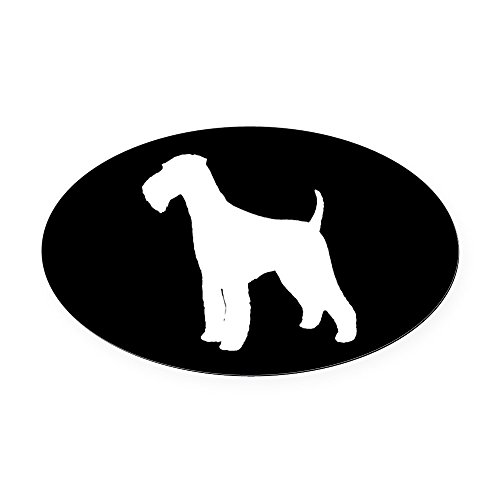 - CafePress - Airedale Terrier Oval Car Magnet - Oval Car Magnet, Euro Oval Magnetic Bumper Sticker