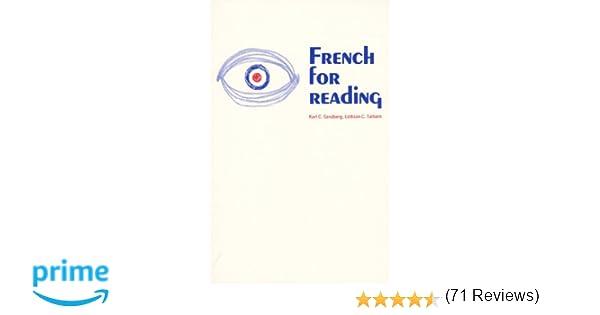 Amazon.com: French for Reading (9780133316032): Karl C. Sandberg ...
