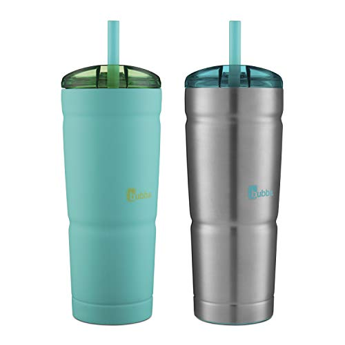 Bubba Envy S Vacuum-Insulated Tumbler, 24 oz, Tidal Wave and Stainless Steel, 2 Pack